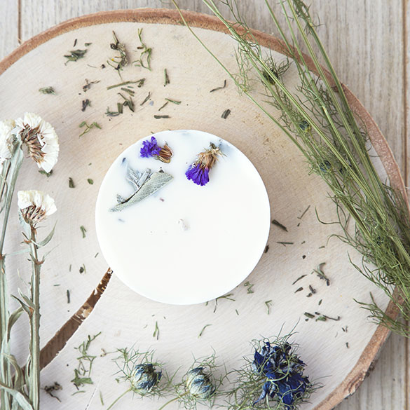 Bougie florale Musc Boisé Plumes de Gaïa