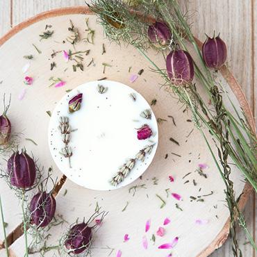 Bougie natuelle végétale à la cire de colza Plumes de Gaïa